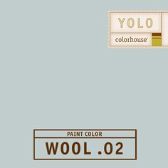 YOLO Colorhouse WOOL .02 - Feels like low clouds in a Portland sky.  Classic kitchen hue when combined with marble counter tops and brilliant white cabinetry.