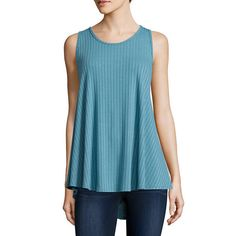 Arizona High-Neck Swing Tank Top | Rainstorm Blue | JCPenney
