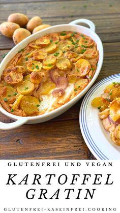 köstliches gutenfreies und veganes Kartoffelgratin geeignet bei Zöliakie, Allergie oder gfcf Diät bei Autismus