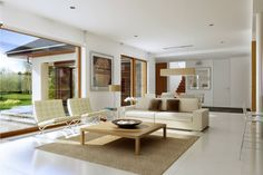 Na Miarę 1 - wizualizacja 3 - Nowoczesny projekt domu z kuchnią od frontu Outdoor Furniture Sets, Outdoor Decor, Dream House Plans, House Design, Table, Car Garage, Villas, Home Decor, Houses
