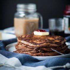Chocolate Raspberry Swirl Pancakes