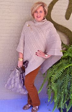 Fashion over 40 Poncho series 5 of 5.