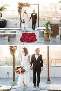 Rooftop Ceremony ideas #rooftopwedding #ceremony @weddingchicks