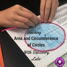 """""""Teaching area and circumference of a circle with discovery labs / inquiry."""" is the original caption but we could incorporate different sized planets and space objects to measure. Math Teacher, Math Classroom, Teaching Math, Teaching Ideas, Classroom Ideas, Teaching Geometry, Elementary Teaching, Future Classroom, Teacher Stuff"""