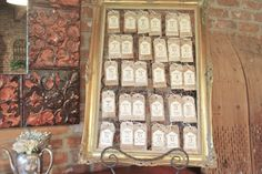 Neat idea - make vintage tags - add guest names and table number - or lots of other uses.