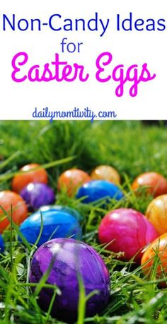 A great list of non-candy items for your Easter Egg hunts!