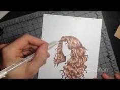 Curly / Wavy Hair Copic Marker Tutorial Part Coloring - Modern Copic Markers Tutorial, Copic Sketch Markers, Fashion Illustration Tutorial, Drawing Hair Tutorial, Beautiful Tumblr, Wavy Hairstyles Tutorial, Portfolio Presentation, Coloring Tips, Alcohol Markers