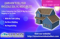 Learn how to sell your wholesale in 2 weeks or less