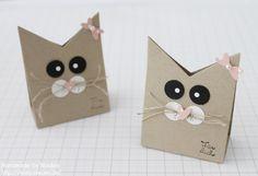 -glücksbringer Kätzchen In Einer Fliederfarbenen Geschenktasche- ! Kinder Neu