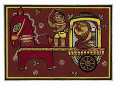 Jamini Roy - Untitled (Lady on Chariot)