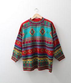Vibrant Vintage Jumper by CoolSource on Etsy, £19.99