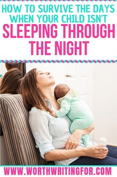 Is your baby or toddler not sleeping through the night? It can be a struggle to get through the day when you're up all night! Check out these tips for how to survive until your baby sleeps through the night (even if it takes until they are a toddler! Toddler Sleep, Baby Sleep, Child Sleep, Toddler Girls, Pregnancy Information, Sleeping Through The Night, All Family, Family Life, Baby Arrival