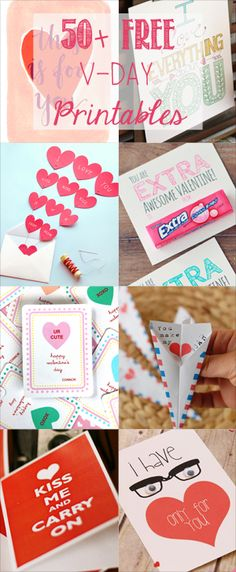 50+ Free Valentine's Printable Cards