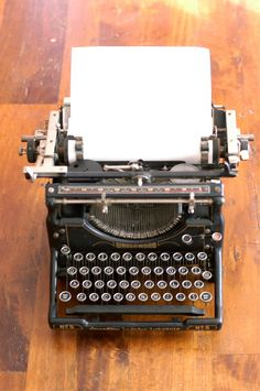 What I wrote all my junior high papers on before we got an electric typewriter......(Underwood Model No. 5 Typewriter)