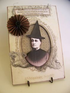 Handmade Halloween Cabinet Card with Stand
