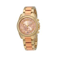 Michael Kors Women's Blair Two-Tone Stainless Steel Bracelet Watch On Sale Now! Great Shopping For Less The Newest Online Store Fine Watches, Watches For Men, Women's Watches, Discount Watches, Watch Brands, Stainless Steel Bracelet, Michael Kors Watch, Gold Watch, Bracelet Watch