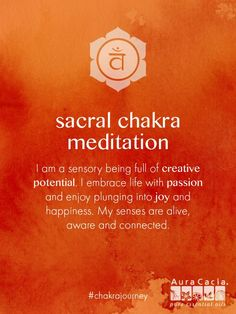 The play chakra. Aliveness that comes from being in the present and using the creative energy in this chakra freely with joy free of self-judgement. Chakra Meditation, Mindfulness Meditation, Guided Meditation, Easy Meditation, Meditation Music, Chakra Sacral, Second Chakra, Throat Chakra, Les Chakras