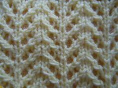 chevron rib knitting pattern