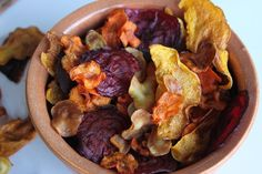 Vegetable Crisps:  2 Large Parsnips  2 Large carrots  1/2 Butternut squash  2 Beetroots  Olive oil  Salt