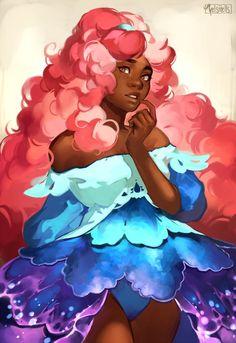 Hi I'm Vel and.I make the webcomic called Countdown to Countdown and draw the occasional fanart! Black Girl Cartoon, Black Girl Art, Black Women Art, Art Girl, Pretty Art, Cute Art, Anime Negra, Black Art Pictures, Magic Art