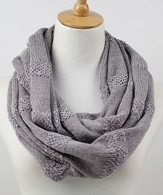 Take a look at this Gray Stripe Infinity Scarf by The Accessory Collective on #zulily today!
