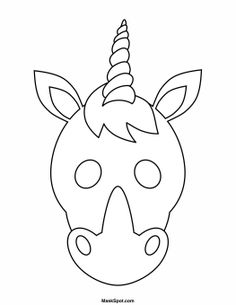 printable unicorn mask to color for ps