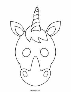 Printable Unicorn Mask to Color