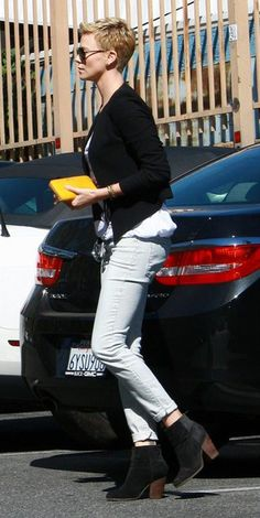 Charlize Theron in the Charcoal Newbury Boot