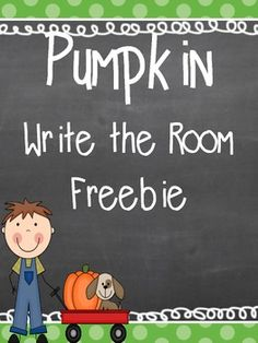 Pumpkin Write the Room Freebie