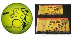 Cola Cao Balon futbol, forma de pelota tenis. Rafa Nadal. Y dos etiquetas Colacao original de los 60 - Foto 1