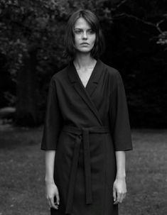 Cos—Fall 2014 wrap black belted dress #minimalist #fashion #style