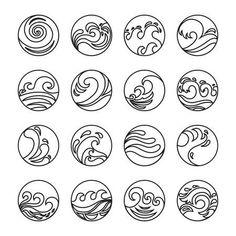Water Symbol or Logo design. Ocean, Sea, B… Stock Vector Vector – Wave Icons Set. Water Symbol or Logo design. Contour line. Waves Symbol, Waves Logo, Logo Design Inspiration, Icon Design, Flat Design Icons, Flat Icons, Line Design, Design Design, Strand Logo
