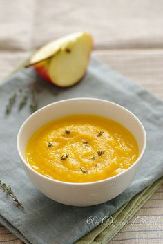 Un dejeuner de soleil: Soupe de carottes, pomme et orange - Zuppa di caro...
