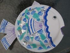 {crafty} paper plate fish w/ scales