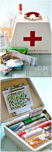 Emergency Kit Gift Idea... Perfect diy craft for teachers, friends, family and teens!  the36thavenue.com #gifts