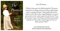 The Master Promised He Would Free Us From The Promise Chapter 2  Get The Promise in print and Kindle Editions at http://ift.tt/2lmWxeW All these dresses got to be folded and packed. The master and mistress are taking a train to somewhere called Oregon and we are going with them. Mary quickly followed her mothers orders. Her mother stopped folding for a moment and sat down on the wooden stepstool beside the bed. Your Pa says when we get to this Oregon the Master promised he would free us her…