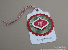 I am submitting this tag for CAS-uals Fridays challenge and Dynamic Duos . 25 Days Of Christmas, Christmas Gift Tags, Christmas Crafts, Christmas Ornaments, Treat Bags, Gift Bags, Wrapping Ideas, Gift Wrapping, Dynamic Duos