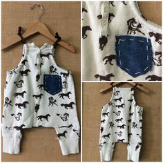 Upcycled one of a kind romper  Www. Bohobabyboutique@gmail .Com