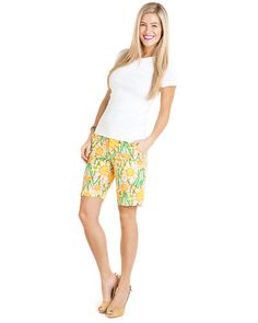 Multi Poplin Resort Fit Bermuda Short