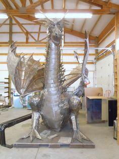 """modern abstract indoor/outdoor metal art sculpture """"dragon"""" /large"""