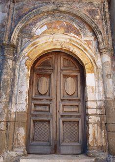 Grand doorway in Symi Greece