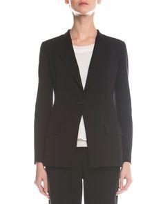 Double-Faced Toggle Blazer, Women's, Size: 42 IT (8 US), Black - Giorgio Armani