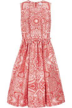 Jacquard a- line dress by Jonathan Saunders