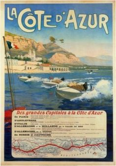Vintage French Poster Art of the French Riviera.