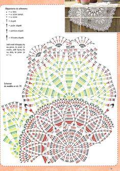 "Photo from album ""Anna Robotki on Yandex. Crochet Tablecloth Pattern, Crochet Doily Diagram, Crochet Doily Patterns, Crochet Chart, Thread Crochet, Crochet Designs, Crochet Doilies, Crochet Home, Irish Crochet"