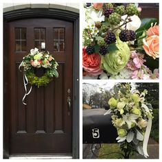 """A welcoming touch at the home of Sara Gieger on the eve of her wedding! #winterweddings #Birminghamweddings #weddingflowers #blushweddingflowers…"""