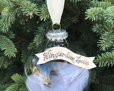 Harry Potter wingardium leviosa glass ornament/harry potter ornament/ gift/, DIY and Crafts, Harry Potter wingardium leviosa glass ornament/harry potter ornament/ gift/. Harry Potter Christmas Decorations, Harry Potter Christmas Tree, Hogwarts Christmas, Magical Christmas, Christmas Themes, Christmas Crafts, Felt Christmas, Homemade Christmas, Harry Potter Fiesta