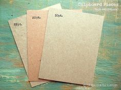 "100 A2 Chipboard Pieces: Rustic Kraft Chip Board Cards, Thick paperboard, Recycled & eco-friendly,4.25""x5.5"" (108x140mm) 20pt, 22pt or 30pt"