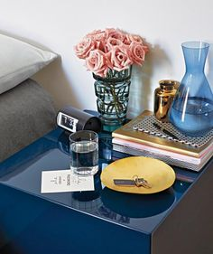 """Guest room bedside table 