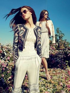 Duke Embroidered Jacquard Jacket x Festival Shop - BCBGMAXAZRIA Festival Shop, 2015 Fashion Trends, Embroidered Jacket, Style And Grace, City Style, Beautiful Outfits, Editorial Fashion, Summer Outfits, Style Inspiration